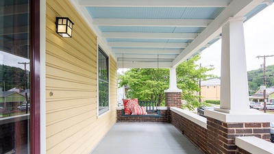 Why paint a porch patio ceiling blue?